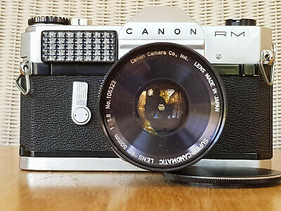 CANON CANONFLEX RM 35mm FILM SLR CAMERA WITH SUPER-CANOMATIC R 50mm f:1.8 lens