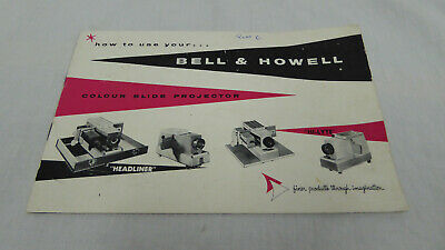 Vintage Bell & Howell Slide projector Pamphlet / Instructions