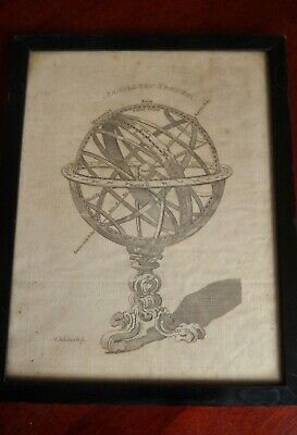Antique T Kitchin Armillary Sphere Print - Crannage & Dentich Framed