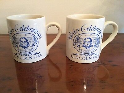 Matching Pair Of Two Brand New Wesley Commemorative Mugs.