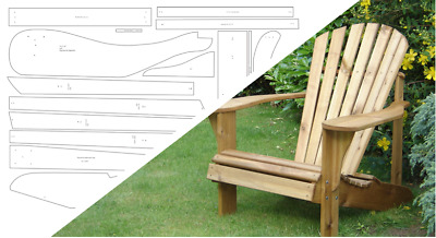 Adirondack Chair & Footstool Plan - Alfresco Furniture