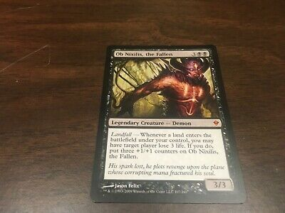the Fallen x1 Zendikar Magic the Gathering NM Mtg Japanese Foil Ob Nixilis