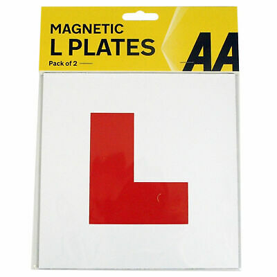 2x  AA Fully Magnetic L Plates Learner Plates Legal Size