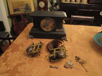 ANTIQUE Wm. L. GILBERT No.1903 MANTLE CLOCK DATED CASE & PARTS GOOD COND & PRICE