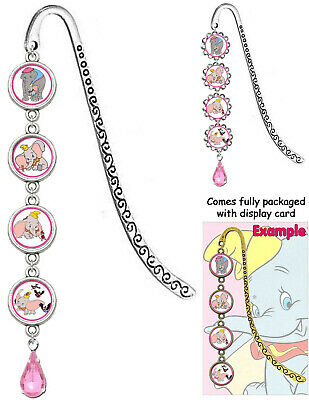 DUMBO Bookmark With Pendant Book Mark Disney Timothy Mouse Feather Crow Elephant