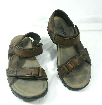 f8fce13a7 TEVA men s size 11 brown suede hiking trail strap water sport sandal GUC