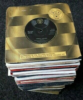 JOB LOT 175 x 1970s & 1980s GLAM ROCK & POP SINGLES *LOOK ALL LISTED*
