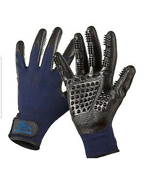 Pet Grooming Gloves Enhanced Five Finger Design- for Cats, Dogs and Horses