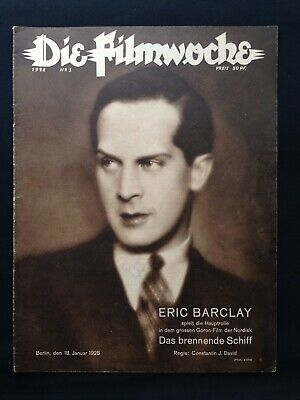 1.WK Die Filmwoche 1928 Nordisk Film Eric Barclay UFA German cinema Berlin WW1 !