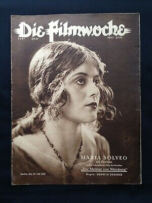 1.WK Die Filmwoche 20er Tobis Kino Maria Solveg German Movie Berlin UFA WW1 !!