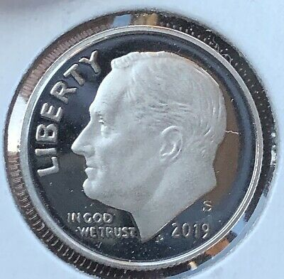 2019 S Roosevelt Dime Gem Deep Cameo Clad Proof Coin