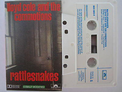 Lloyd Cole And The Commotions Rattlesnakes Rare Original Australian Cassette