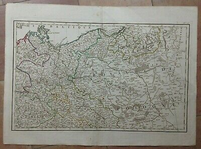 POLAND GERMANY (1782) by JANVIER 18e CENTURY LARGE ANTIQUE ENGRAVED MAP