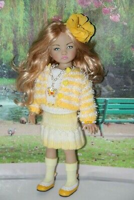 "Outfit FOR Dianna Effner 13"" Little Darling Dolls=Sunny Yellow Skirt Sweater NEW"