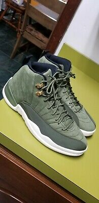 f19446c154 Air Jordan 12 Retro Chris Paul Class Of 2003 Olive Canvas 130690-301 Sz 10.5