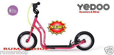 nieuw model YEDOO PUSH KICK CITY ROLLER SCOOTER STEP MAU pink