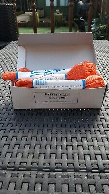 BOX OF 12 FAITHFULL FA1-300 18m POLYETHYLENE ORANGE BRICK LINES IN ORIGINAL BOX