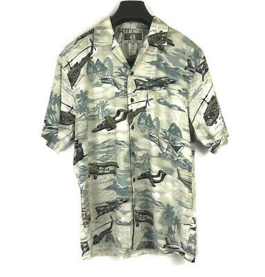 c7ecb0845 Kalaheo Men's Hawaiian Shirt Airplanes Bombers WWII USA Hawaii Size Medium