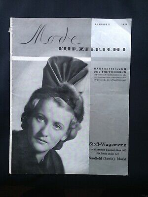 2.WK Mode Prospekt Textil Reklame Werbung 1938 Heft German fashion magazine WW2