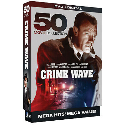 Crime Wave - 50 Mystery Crime  Film Noir Movies -10 DVD Boxed Set Region 1 (USA)