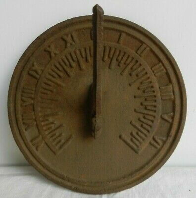 Reclaimed Cast Iron Sun Dial with Gnomon Country Garden Cottage