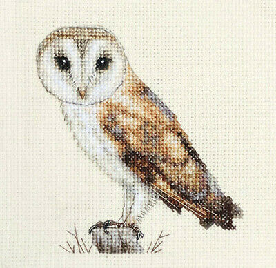 BARN OWL Bird ~ Full counted cross stitch kit, with all materials