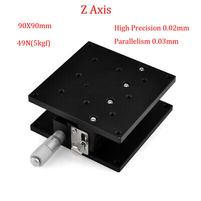 Z Axis Trimming Platform Linear Stage 40MM/60/90MM Bearing Tuning Sliding Table