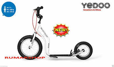 NEW TOP BRAND YEDOO PUSH KICK ROLLER SCOOTER STEP MODEL WZOOM white