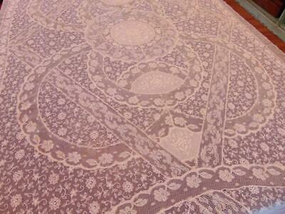 Stunning Pair Of C.1910 French Normandy Lace Twin Coverlets Unused Original Tags