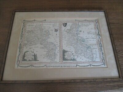 New Map Oxfordshire Buckingham Shire Alex Hogg 1784 ? Map Karte UK  Landkarte