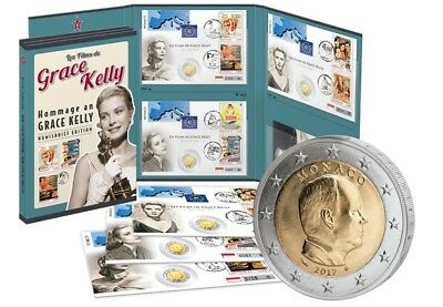3 x 2 Euro Numisbrief Monaco - Hommage an Grace Kelly 2015 - 2017 st