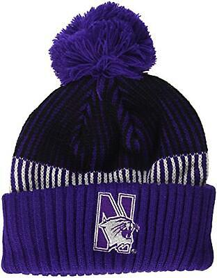 outlet store 3756c 609a1 NCAA Northwestern Wildcats Youth Boys Team Stripe Cuffed Hat w  Pom, Multi,  Yout