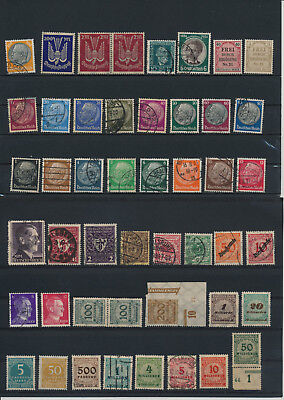 Germany, Deutsches Reich, Nazi, liquidation collection, stamps, Lot,used (AK 15)