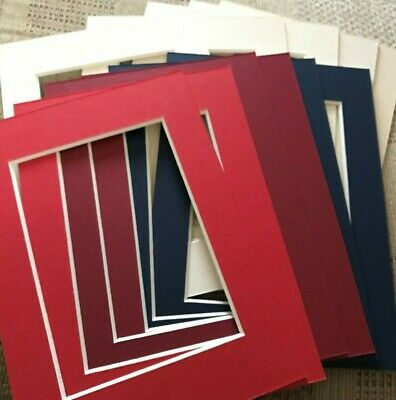 11 Various Colour Picture Frame Mounts 5X7 Overall For 5X3.5 Inch Photo Picture