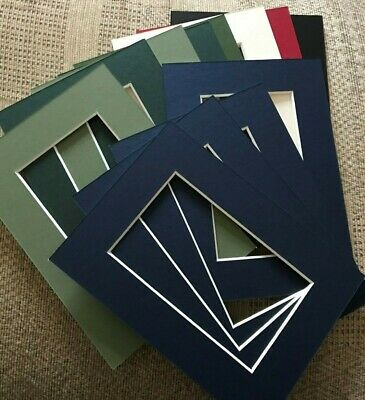 12 Various Colour Picture Frame Mounts 5X7 Overall For 5X3 Inch Photo Picture
