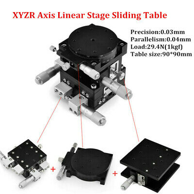 XYZR 4-Axis Trimming Platform Manual Linear Stages Bearing Tuning Sliding Table