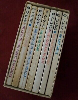 Vintage C S Lewis The Chronicles of Narnia Complete 7 Book Set published 1970