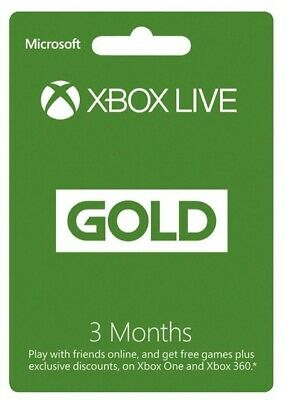 💳 Microsoft Xbox Live Gold 3 Month Membership Card; *DIGITAL DELIVERY* 💳