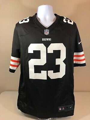brand new 2beeb eed26 AUTHENTIC CLEVELAND BROWNS #23 Joe Haden Jersey Mens Medium Brown Nike On  Field