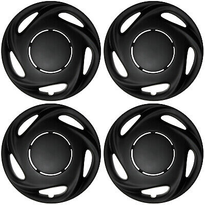 "4 Piece Set of 14"" Matte Black Hub Caps Cover for OEM Steel Wheel Covers Cap"
