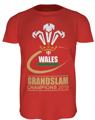WALES GRAND SLAM 2019 T SHIRT (, with Scores, Welsh, Triple Crown) for all ages