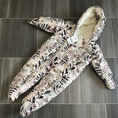 BNWT - NEXT Baby Girls Snowsuit 6-9 Months Coat Jacket Top All In One