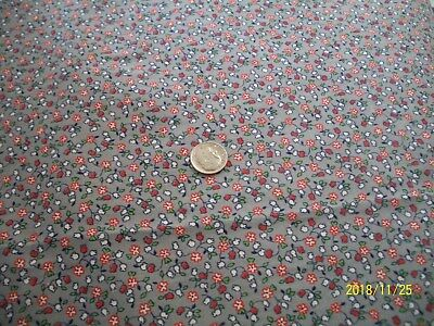 Vintage Antique Quilt Doll Cotton Fabric Tiny Floral 30's 40's Feedsack Era 1 yd