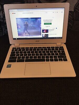"Acer Chromebook 11 CB3-111 11.6"" Laptop White Notebook"