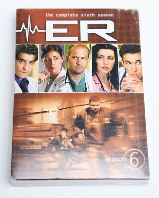 ER - The Complete Sixth Season (DVD, 2011, 6-Disc Set) Sealed New *FREE SHIPPING