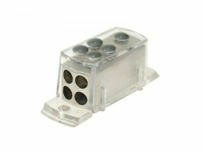 ACV Car-HiFi Stromverteiler IN 1x20qmm und OUT 4x10qmm / Silver Look!