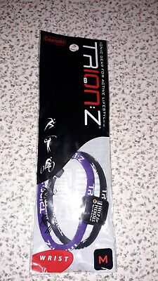 trion z dual loop magnetic wristband small black/purple, brand new, wrong size.