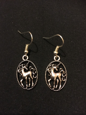fb7f2a101 Silver Plated Unicorn Earrings Jewellery Gift Present Quirky Fantasy Unusual  Fun