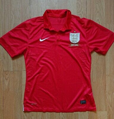 Mens Nike Red England Away 2013/2014 150 years football shirt size M. Vintage.