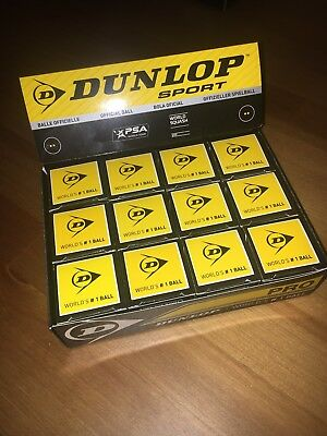 Dunlop Pro Double Yellow Squash Balls X12 Pack